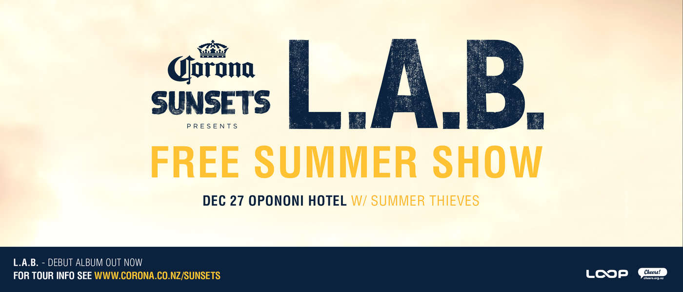 Corona Sunsets Presents L.A.B. - Opononi